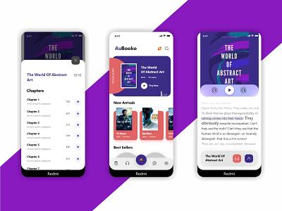 AuBooko App uxui book application app design uxdesign uidesign uiux design app ux ui