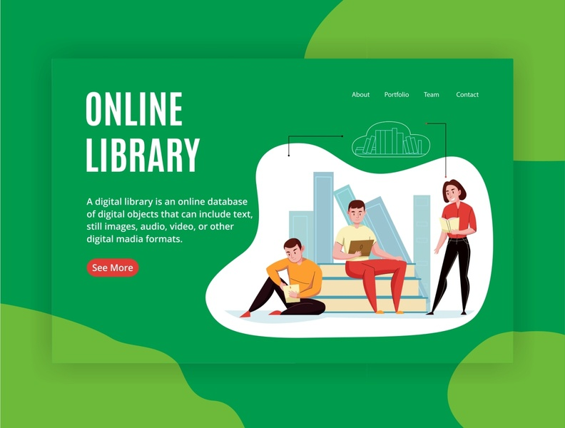 ONLINE LIBRARY WEB DESIGN