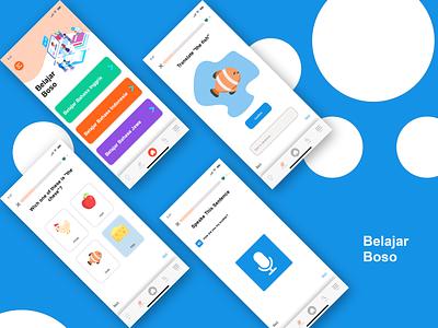Belajar Boso Application uxui uxdesign app ui design illustration design ux uiux uidesign ui