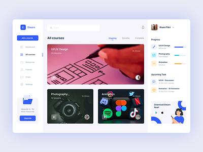 Elearn Dashboard - Dashboard dashboard design dashboard app dashboard ui dashboard website ux design webdesign ui design uxui uxdesign design ux uiux uidesign ui