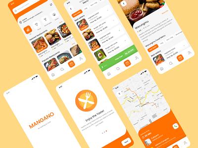 MANGANO APP - Food Delivery App mobile app design mobile design mobile app mobile ui mobile food food app app design ux design ux  ui application app ui design uxui design uxdesign ux uiux uidesign ui