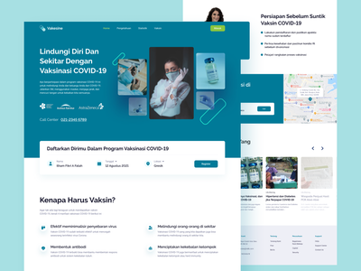 Vakesine - Vaccine Landing Page companyprofile landingpagedesign websitedesign vaccination vaccine productdesign webdesign product website landingpage uxui design uxdesign ux uiux uidesign ui