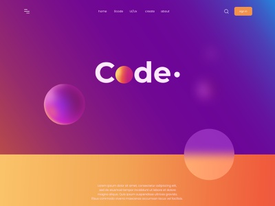 Code Project webpage landing page website