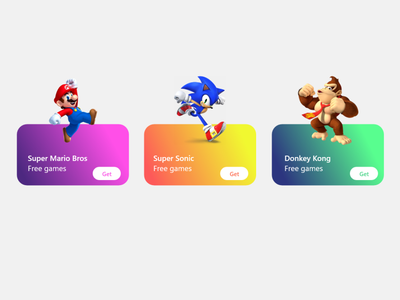 Game List donkey kong super mario bros sonic game list game app ui design uidesign ui design design app