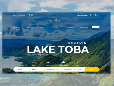 Travel Agency Landing Page indonesia designer design app web design uidesign ui design uiux dashboad airbnb travel agency travel landing page design