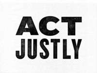 Act Justly texture print wood print tyopgraphy type bible scripture wood type protest justice