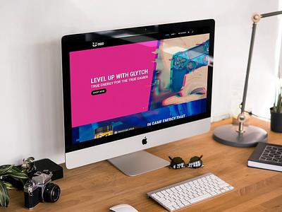 Glytch Website glitch uxui online shopping online store gaming store energy web design website design website ui ux webdesign web