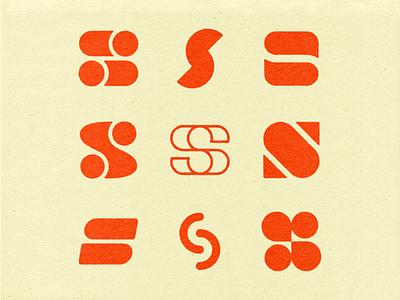 S vector branding logo icon custom type type s lettering texture typography