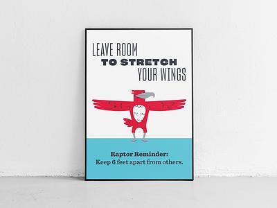 Raptor Reminders print layout illustrator posters college university falcon hawk bird poster art typography ad vector illustration poster