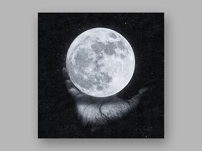 Moon art night light texture halftone screenprint print hand manipulation digital art scifi fantasy moon space