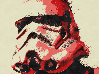 Red Trooper red separation print texture destruction distortion fanart scifi star wars starwars stormtrooper