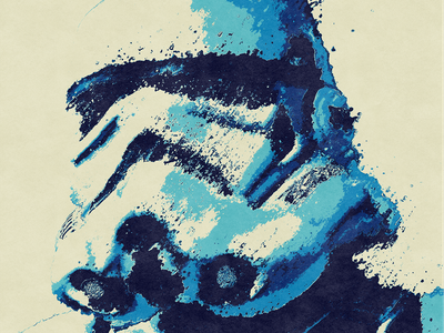 Blue Trooper fanart grunge separation destruction distortion print texture stormtropper star wars starwars