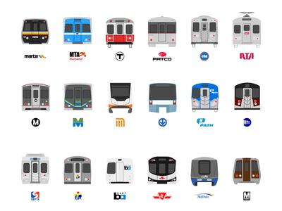 Subway Train Icons