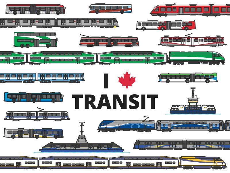 I Love Canadian Transit montreal vancouver toronto ferry train bus subway transportation public transit canada