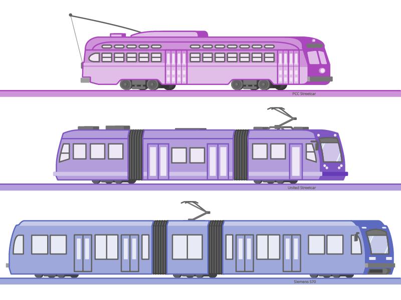Light Rail tram streetcar rail light transit transportation public
