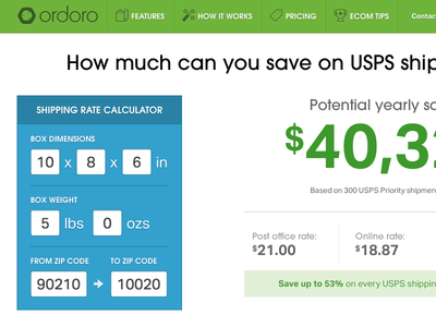 USPS Shipping Rate Calculator