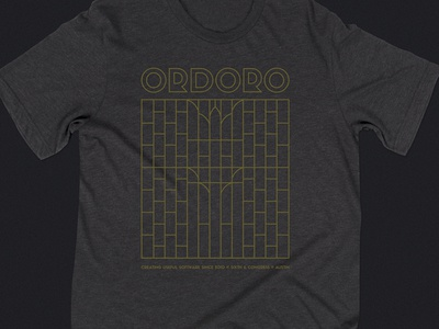 Ordoro Five Year Anniversary T-Shirt art deco sifonn austin scarbrough anniversary shirt t-shirt ordoro