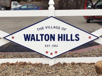 Sign for Walton Hills