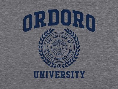 Ordoro University T-Shirt shirt triblend university collegiate hudson ordoro