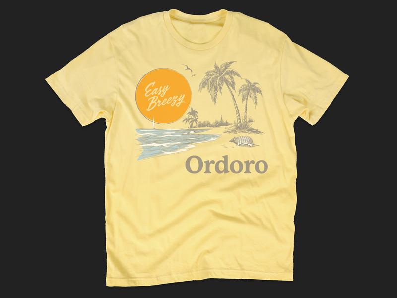 Ordoro Beach Mode Tee beach mode stordoro vintage tshirt easy breezy armadillo tshirt beach ordoro