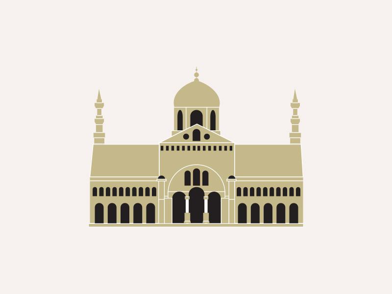 Umayyad Mosque by julia stomal on Dribbble