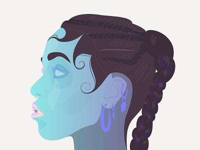 FKA twigs neon illustration portrait twigs fka