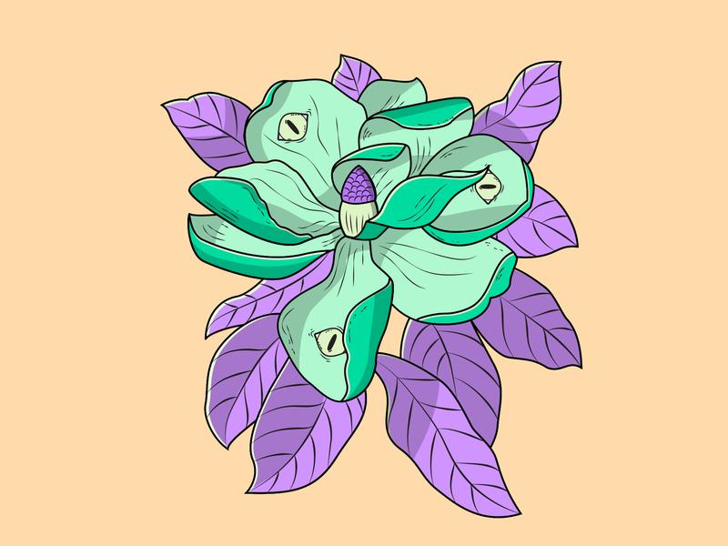 Magnolia vector art illustration art eyes botanical illustration flower illustration vector illustration digital illustration magnolia flower illustration