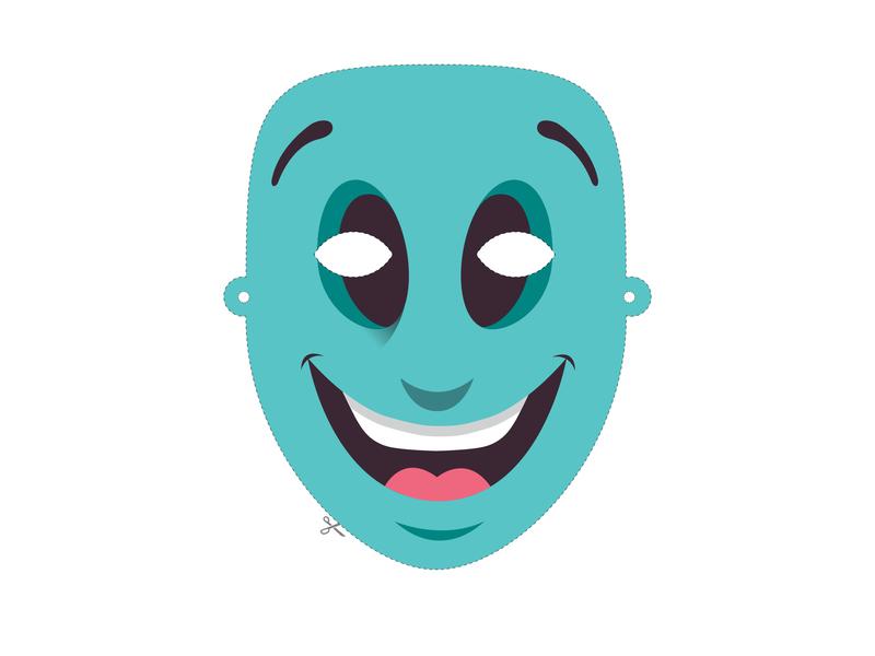 Paper Mask app mark branding logo vector icon flat print logo design digital art icon design design illustration art direction