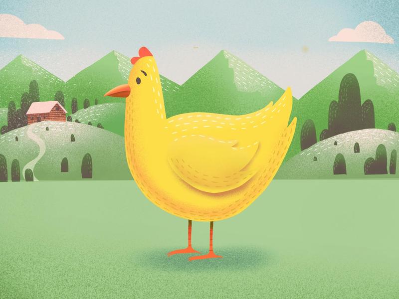 Chicken illustrator procreate branding logo vector print icon flat logo design digital art icon design design illustration art direction
