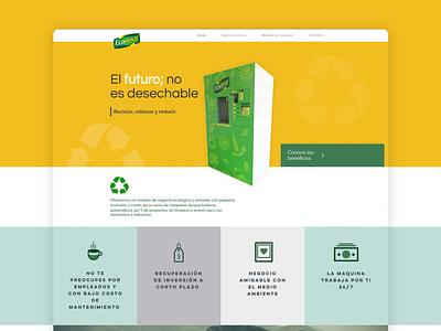 Ecorefill website design