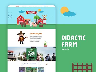 Didactic Farm website webdesign