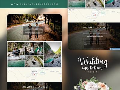 Wedding website invitation website design