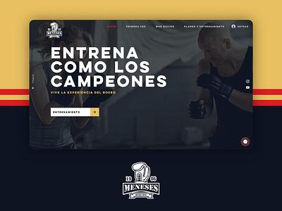 Meneses Boxing logodesign training websitedesign website boxing