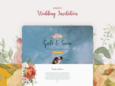 Galy and Sam Wedding invitation website design wedding invitation