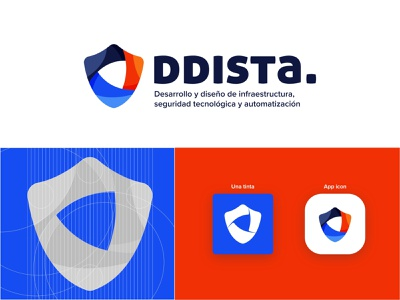 DDISTA Logo security logo enterprise logodesign logotype