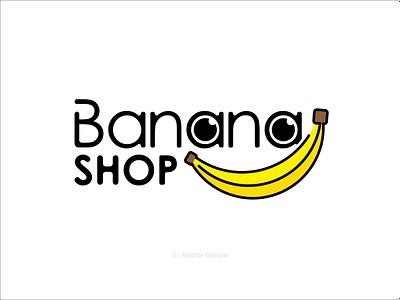 Bananashop Logo design banana logo design