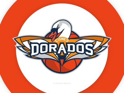 Cisnes Dorados Logo team logo basketball logo design concept sport branding