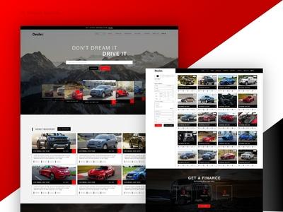 Dealer Website concept