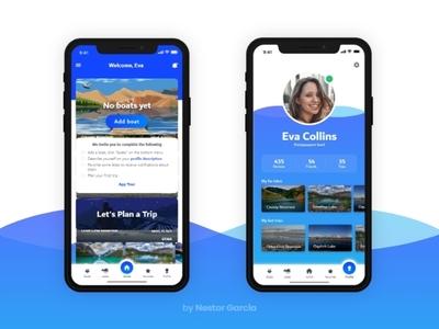 User app UI design