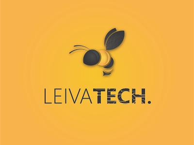 Leivatech Logo tech logo logodesign