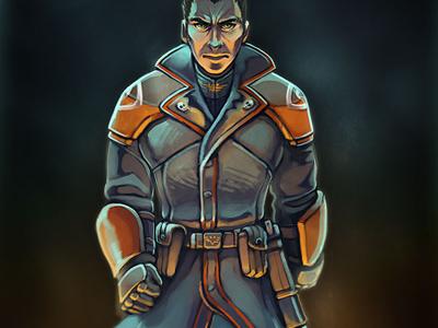 Gunner - Before warhammer painting illustration 40k