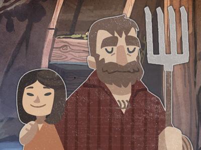 Farm'in vector illustration people