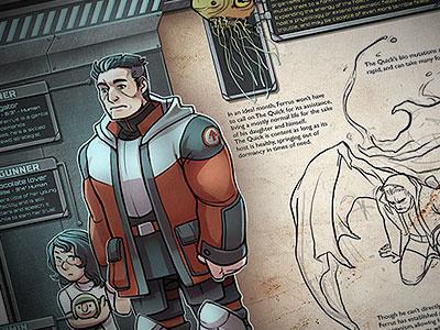Gunner's Character Sheet illustration character sheet design