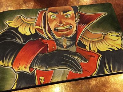 More Marker Illustrations of Talon Screaming copic illustration 40k markers
