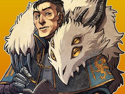 Sir Valadine knight illustration painting oekaki dragon