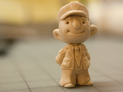 Fennelly sculpey sculpture miniature police