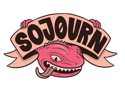 Sojourn Logo sojourn sketchbook character illustration music tuatara logodesign logo band mangawhai new zealand