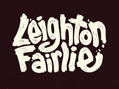 Leighton Fairlie sketchbook illustration drawing new zealand logo illustrated type type art