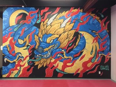 M.A.I Dojo Dragon Mural