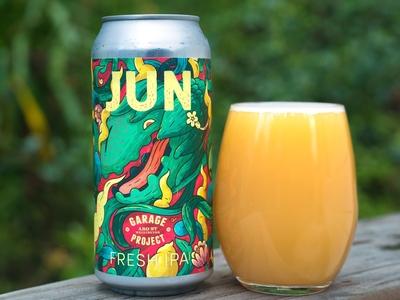 Fresh JUNE Beer design for Garage Project